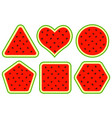 Abstract watermelon shapes vector image