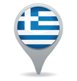 greece flag pointer vector image vector image