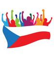 Czech Republic fans vector image vector image