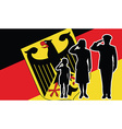 Germany soldier family salute vector image