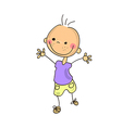 funny doodle kid vector image