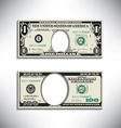Stylized money looses face vector image vector image