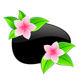 spa pink flowers icons vector image vector image