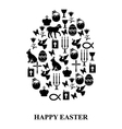 easter cet egg vector image vector image