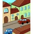 cartoon street vector image