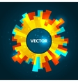 Abstract round glowing banner colorful vector image