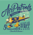 air patrols squadron vector image