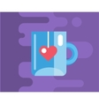 Blue cup icon Tea object or drink and vector image