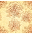 Henna colors ethnic style seamless pattern vector image