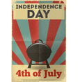 independence poster bbq vector image