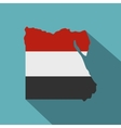 Map of Egypt in Egyptian flag colors icon vector image