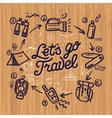Travel and adventure theme doodle elements vector image