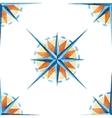 Wind rose pattern vector image