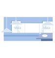 Cafe interior vector image vector image