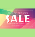 stylish sale banner with colorful background vector image