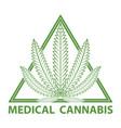 medical cannabis marijuana logo vector image