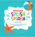 Birthday Card Invitation Summer Fun Splash Pattern vector image