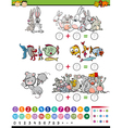 cartoon mathematical game vector image vector image