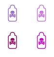 assembly sticker jar of poison on a white vector image