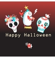 Bright color background with monsters vector image