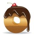 Cake letter O- birthday font vector image