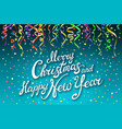 festive card with sparkle calligraphic lettering vector image