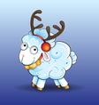 Funny baby sheep vector image