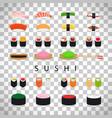 japanese food sushi set vector image