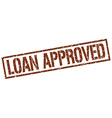 loan approved stamp vector image