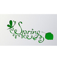 Paper background with hand-written text vector image