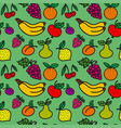 pattern of fruits and berries vector image