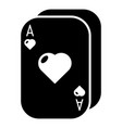 poker cards icon simple black style vector image