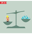 Scale compare between idea and money - - EP vector image