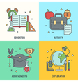 School banners templates vector image