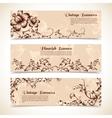 Vintage ornate flourish horizontal banner vector image