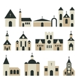 Christian church with basilica and tower vector image vector image
