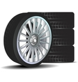 Car wheel with tire isolated vector image