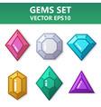 modern set of colorful gems for website or mobile vector image