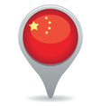 china flag pointer vector image vector image