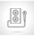 Microphone and subwoofer flat line icon vector image