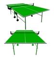Ping pong green table tennis vector image vector image