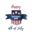Happy 4th of July background template vector image