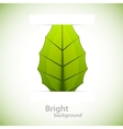 Background with leaf vector image