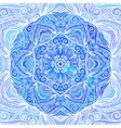 Blue ornate doodle circle background vector image