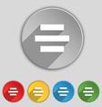 Center alignment icon sign Symbol on five flat vector image