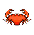 crab isolated on white background vector image