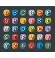 Flat icons alphabet vector image