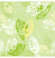 Green Seamless Background with Leaves vector image