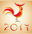 year of a rooster vector image