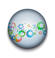 abstract bubble app icon vector image